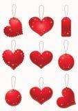 Etiqueta vermelha. ilustração stock
