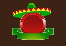 Etiqueta vermelha com sombrero Fotos de Stock