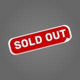 Etiqueta vermelha para fora vendida no vetor cinzento do fundo Imagens de Stock Royalty Free