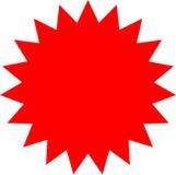 Etiqueta vermelha vazia para a etiqueta da venda Ilustração Stock