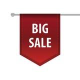 Etiqueta vertical de la señal de la cinta de la venta grande Vector Fotos de archivo