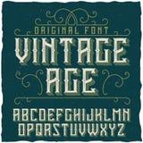 Etiqueta Vintage nombrado tipografía Age del vintage Fotos de archivo