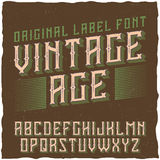 Etiqueta Vintage nombrado tipografía Age del vintage Foto de archivo libre de regalías