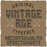 Etiqueta Vintage nombrado tipografía Age del vintage Fotografía de archivo libre de regalías