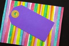 Etiqueta violeta do cartão imagem de stock royalty free