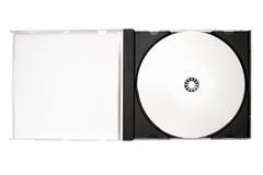 Etiquetado del disco - caja abierta del disco con el camino Fotografía de archivo