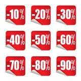 Etiquetas #1 da venda Fotos de Stock