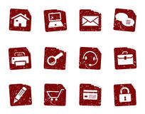 Etiquetas 1 do ícone de Grunge Foto de Stock