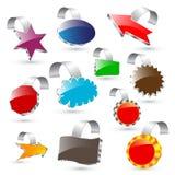 etiquetas 3d Fotografia de Stock