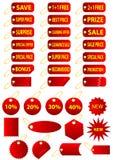 Etiquetas Imagens de Stock