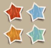 Etiquetas afligidas das estrelas Fotografia de Stock
