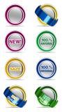 Etiquetas ajustadas Imagens de Stock Royalty Free
