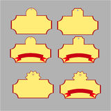 Etiquetas amarelas da compra Fotografia de Stock