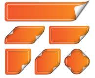Etiquetas anaranjadas Imagen de archivo libre de regalías
