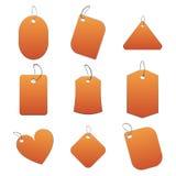 Etiquetas anaranjadas stock de ilustración