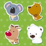 Etiquetas animais bonitos 05 ilustração do vetor