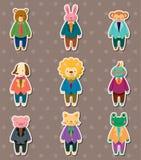 Etiquetas animais do trabalhador Foto de Stock