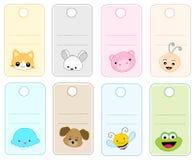 Etiquetas animales stock de ilustración