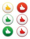 Etiquetas - aprovadas Imagens de Stock