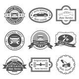 Etiquetas autos del servicio Foto de archivo libre de regalías
