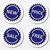 Etiquetas azules Foto de archivo libre de regalías
