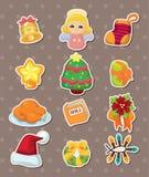 Etiquetas bonitos do elemento do Natal dos desenhos animados Imagem de Stock