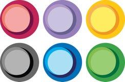 Etiquetas brilhantes do círculo de cor Imagens de Stock