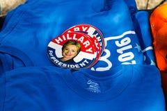 Etiquetas Clinton 2016 da campanha Foto de Stock