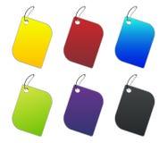 Etiquetas coloreadas - 4 - en blanco Fotografía de archivo libre de regalías