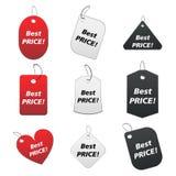 Etiquetas coloreadas - el mejor precio 4 stock de ilustración