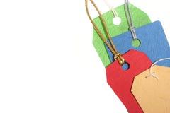 Etiquetas coloridas fotografía de archivo libre de regalías