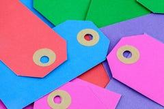 Etiquetas coloridas Foto de archivo libre de regalías