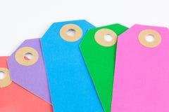 Etiquetas coloridas Imagen de archivo libre de regalías