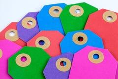 Etiquetas coloridas Imágenes de archivo libres de regalías