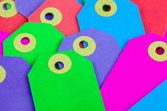 Etiquetas coloridas Foto de archivo