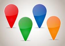 Etiquetas coloridas abstratas da placa Imagem de Stock