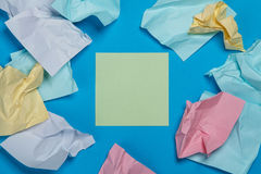 Etiquetas coloridas amarrotadas Fotografia de Stock