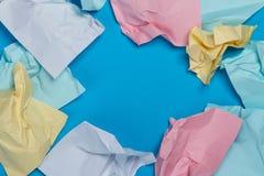 Etiquetas coloridas amarrotadas Fotografia de Stock Royalty Free