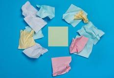 Etiquetas coloridas amarrotadas Imagem de Stock Royalty Free