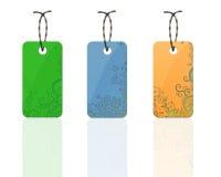 Etiquetas coloridas de la flora Fotografía de archivo