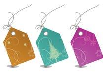 Etiquetas coloridas de las ventas con el camino de recortes Foto de archivo libre de regalías
