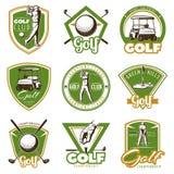 Etiquetas coloridas del golf del vintage libre illustration