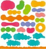 Etiquetas coloridas del papel japonés Imagenes de archivo