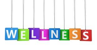 Etiquetas coloridas do bem-estar Foto de Stock