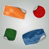 Etiquetas coloridas do Natal com textura Fotografia de Stock