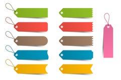 Etiquetas coloridas, preço, grupo do molde Ilustração do vetor Imagem de Stock