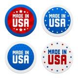 Etiquetas com feito nos EUA Imagens de Stock Royalty Free