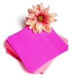 Etiquetas com flores Imagem de Stock Royalty Free