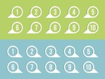Etiquetas com números Fotografia de Stock