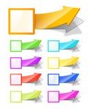 Etiquetas com seta Imagens de Stock